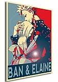 Poster Seven Deadly Sins 'Propaganda' Ban ed Elaine - Formato A3 (42x30 cm)