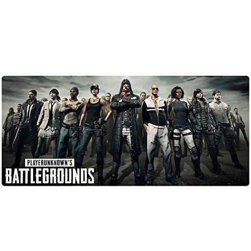 Beyme PUBG Gaming Mauspad, Extended XXL Mauspad Groß Mouse Mat für PLAYERUNKNOWN'S BATTLEGROUNDS- 900x400x2mm (90x40 battlegrounds 005)