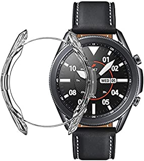 Silicone Frame Cover for Galaxy Watch 3 - Size 45 - Transparent