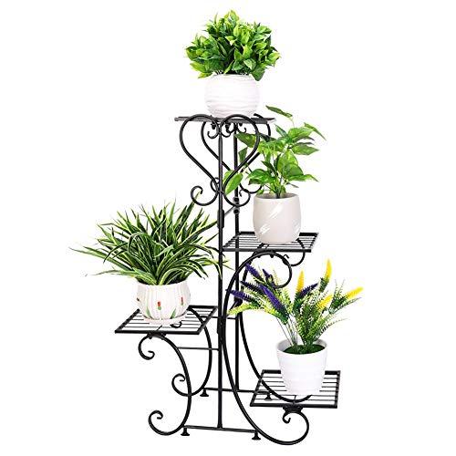 フラワースタンド アイアン 室内 おしゃれ 花台 ガーデニング 棚 鉢植え/観葉植物 プランタースタンド ベランダ/玄関/屋外 ガーデンラック アンティーク スリム