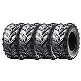 MMG Set of Four Tubeless Tires 16x8.00-7 (205/55-7) P133 - ATV UTV 50cc and Up, Trail Track Mud Tread, Turf Performance