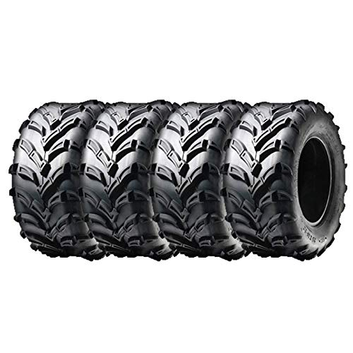 MMG Set of Four Tubeless Tires 16x8.00-7 (205/55-7) P133 - ATV UTV 50cc and Up, Trail Track Mud Tread, Turf Performance