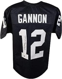 Rich Gannon NFL MVP 2002 Autographed Oakland Raiders Custom Football Jersey - BAS COA
