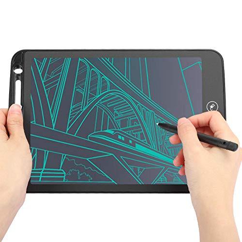 Blocco per scrivere LCD per bambini, tavoletta per scrittura LCD da 10 pollici Tavolo da disegno Blocco per appunti digitale colorato per lavagna elettronica, ottimo regalo per compleanno(Nero)