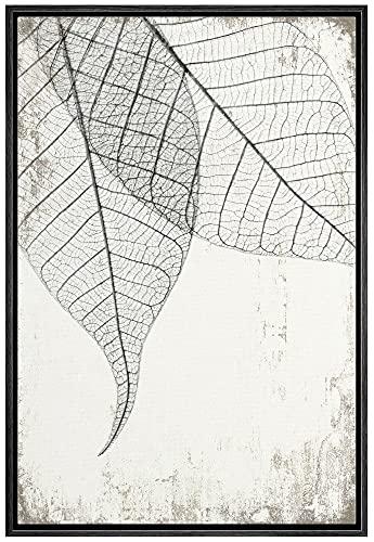 wall26 Framed Canvas Print Wall Art Transparent Black &...