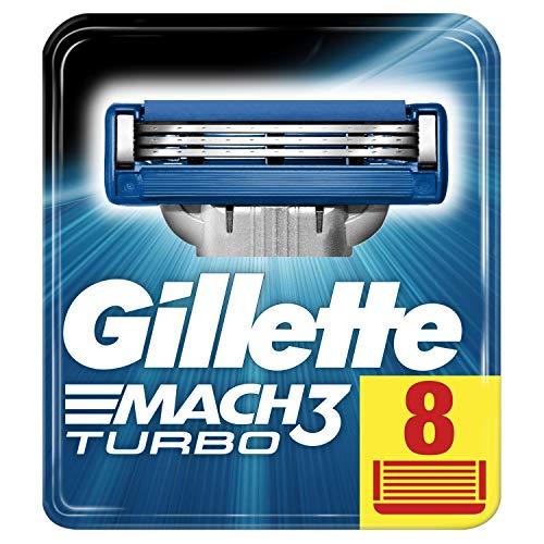 Gillette Mach3 Turbo Rasierklingen für Männer, 1er Pack (1 x 8 Stück)
