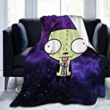 Classic-Invader-Zim-Gir Flannel Blanket Super Soft Hypoallergenic Plush Bed Couch Living Room 80'X60'Foradult