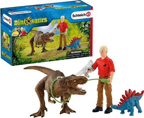 Schleich 41465 Dinosaurs Spielset - Tyrannosaurus Rex Angriff, Spielzeug ab 5 Jahren