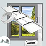TOPOWN Window Slide Kit Plate for Portable Air Conditioner Ac Window Vent Kit Vertical/Horizontal PVC Seal Bracket -Adjustable Length-with Adaptor Suitable for Mobile Air Conditioner with 5.9