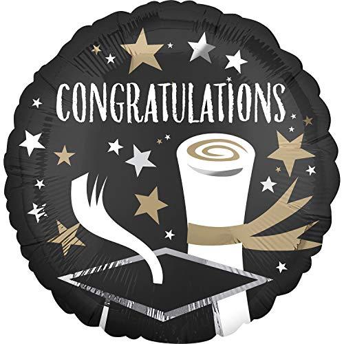 amscan 3935001 Folienballon Satin Infused Congratulations Grad, Mehrfarbig
