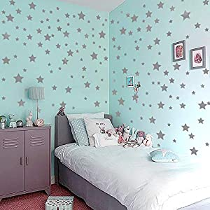 Bronze silver star bedroom children room living room star decoration wall sticker glass cabinets can be removed at will wall sticker home decoration