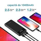 Zoom IMG-2 powerbank 10400mah usb c caricabatterie