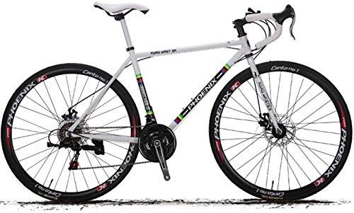 Commuter City Road Bike, 27,5 pouces vélo de route, 21/27 vitesse 700C Trek vélo de route, Cadre en acier au carbone à haute, Freins à disques à deux vélos de cyclisme sur route, vélo de ville Vélo ,U