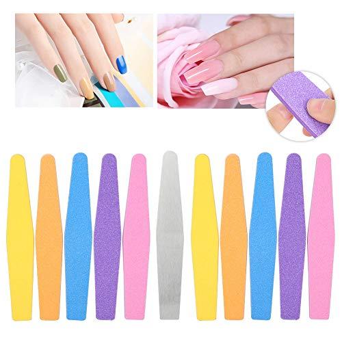 Nail buffer, 10 piezas tiras pulidas esponja respaldan