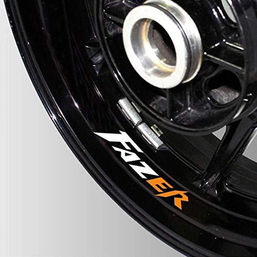 Luyangyund Pegatinas Reflectantes Impermeables de la Motocicleta Pegatinas de neumáticos Rim In Tecalas Decorativas internas Parche de Rueda para Yamaha Fazer (Color : 02)