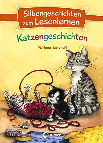 Silbengeschichten zum Lesenlernen - Katzengeschichten: Lesetraining für die Grundschule - Lesetexte mit farbiger Silbenmarkierung