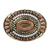 Hebilla de cinturón de bohemia, tótem de piedras preciosas indias celtas, estilo ovalado, hebilla de cinturón, hebilla de cinturón de piedra de ojo de tigre de vaquero occidental