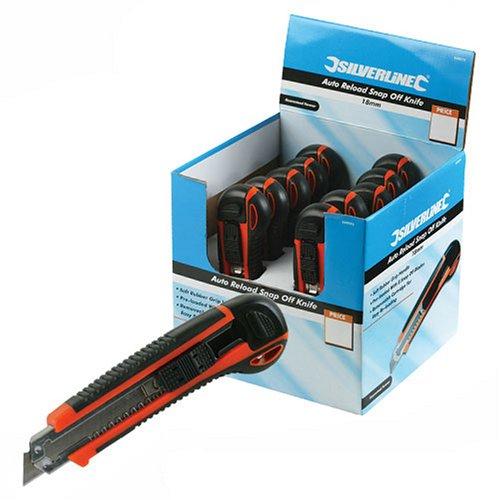 Silverline 633575 Caja con Cúteres de Hoja Segmentada