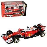 Bburago Ferrari SF16-H Sebastian Vettel Nr 5 Formel 1 2016 1/43 Modell Auto mit individiuellem Wunschkennzeichen