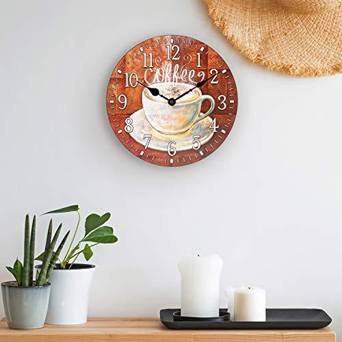 La Crosse Technology 404-2631C La Crosse 12 inch Round Coffee Décor Analog Wall Clock