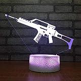 Hermosas armas de fuego base agrietada luz de noche led interruptor táctil luz multicolor decoración de la habitación luz niños bebé luz de noche