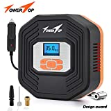 Air Compressor Tire Inflator, DC 12V Digital Tire Inflator with Digital LCD Display and 3 Modes LED Light Auto Shut Off for Car, Bicycle, Motorcycle, Balls