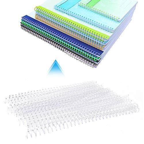 20 piezas 30 agujeros peine de hojas sueltas encuadernaciones de plástico espinas de encuadernación anillos de resorte anillos en espiral para encuadernación de álbum de papel A4(13mm-transparente)