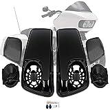Satteltaschen-Deckel für Touring Electra Street Glide mit 12,7 x 17,8 cm großen Lautsprechern für Harley 2014–2020.