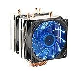 Tutoy 3 Pin 90 Millimetri LED di Raffreddamento della CPU Ventola Refrigerante Radiatore p...