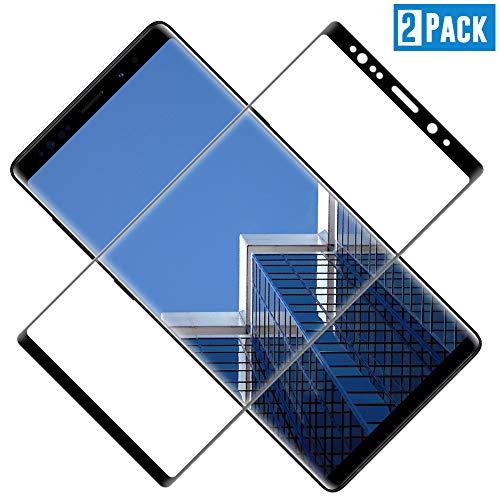 TOCYORIC Verre Trempé pour Samsung Galaxy Note 8, Film Protection écran Note 8, [3D Incurvé Couverture Complète] Vitre écran Samsung Note 8 [Haute Sensibilité] [Anti Rayures] [2 Pack]