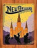 Blechschild New Orleans Reise-Poster NOLA Retro