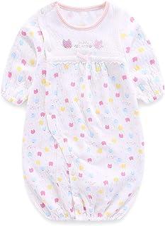 Boo.Kabee ツーウェイオール 新生児服 ロンパース カバーオール 長袖 ふんわり柔らかい 出産祝い 50-70CM(0-6M) BKB936F