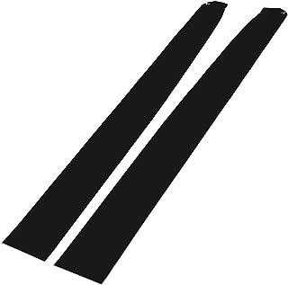 for Tesla Model 3 Dashboard Wood Wrap Cover Stickers Interior Matte Deep Black Vinyl Wrap Kit(Matte Black)