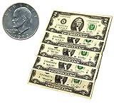 BoomValue Eisenhower Dollar and qty5 - $2 Bills Fun Gift