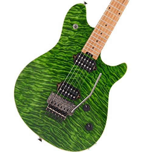 EVH Wolfgang Standard QM Electric Guitar - Transparent Green