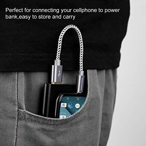 15cm Kurz USB C Kabel, CableCreation USB C Kabel, Geflochtene USB-C Ladekabel Datenkabel, Type C Schnellladekabel für Macbooks, Galaxy S8/S9 Plus/S20, Huawei P20/P30, Sony Xperia XZ/Z5, HTC10 usw. Grau