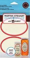 マーサ・スチュワート ホームオフィス Avery テクスチャードラベル エッグシェル レッドボーダー 楕円形 2-9/16インチ x 3-3/4インチ 12個パック