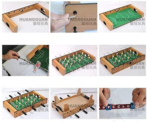 Xfwj Tabla Toy Boy Toy Fútbol Fútbol Tabla 6 Tabla de Madera de la manija de fútbol de Regalos de cumpleaños del Jugador Boy Creativo de Juguete for niños Instalación Sencilla Otoño