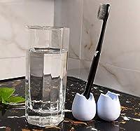 歯ブラシスタンド 歯ブラシ立て 天然素材 珪藻土歯ブラシスタンド 珪藻土 吸水 速乾 乾燥 吸湿 防ダニ 消臭 丸型(ブルー 2個入り)