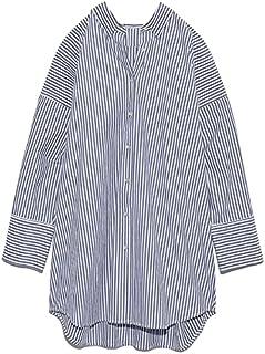 [ミラオーウェン] 変形パターンキャンペーンロングシャツ 09WFB214021 レディース