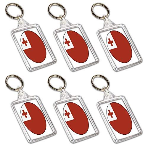 Tonga Flaggen-Schlüsselanhänger – Partytütenfüller – Veranstaltungen – Feiern – Sammler – Dekorationen – Sockenfüller (12 Stück)