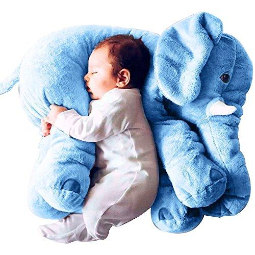Rugjut Plush Elephant Pillow Baby Soft Stuffed Sleeping Cushions Animals Elephant Baby Toys Pals Cushion Toy For Kids