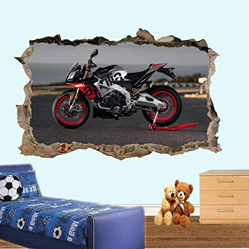 HUJL Pegatinas de pared Racing Moto Stickers Muraux Art Stickers Muraux Affiche Chambre Décoration