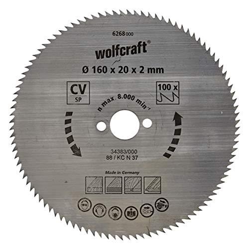 wolfcraft 6268000 | Handkreissägeblatt CV | Serie blau | 100 Zähne | ø160mm