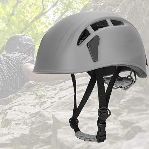 DAUERHAFT Casco da Arrampicata Robusto e Sicuro, Leggero, Resistente con Quattro schede per lampade Frontali per Arrampicata, Alpinismo(Gray)