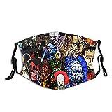 Collage Of Horror Mask,Face Mask Bandanas Balaclavas Adjustable Washable For Mens Womens