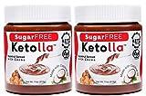 Keto Factory Cocoa Hazelnut Spread, 2-Pack, 11 Oz Jars | All Natural Keto Friendly Healthy Snack, No Palm Oil, Vegan, Sugar-Free, Soy-Free, Gluten-Free, Non-GMO, No Preservatives