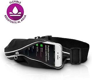 Redlemon Cinturón para Correr Impermeable, Ajustable y Flexible Tipo Cangurera, Deportivo con Cintas Reflejantes para la Noche, Compatible con Smartphones y más.