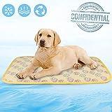 Idepet Colchoneta de enfriamiento para mascotas, Gatos para perros Cojín de refrigeración para mascotas Manta de cama