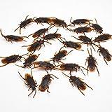 Tiamu 12pzs Cucarachas de plastico simuladas de Halloween Juguete Accesorios enganosos Decoracion de Truco